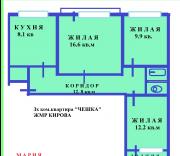 Продам 3х к.кв Чешку ЖМР КИРОВА Маріуполь