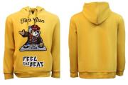 Толстовка Top Gun DJ Bear hoodie (жовта) Запоріжжя