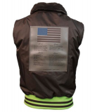 Жилетка Top Gun Ma-1 Bomber Vest with patches (коричнева) Львів