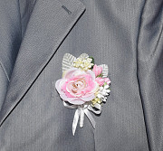 Бутоньерки свадебные. Набор: браслет и бутоньерка Запоріжжя