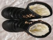Сапоги женские кожаные зимние, 37р (24см), б/у Київ