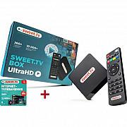 ТВ-приставка inext SWEET.TV BOX Ultra HD + Стартовый пакет L на 6 месяцев (Код товара:18695) Харків