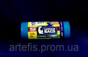 Мусорные пакеты полиэтиленовые 120л х10шт. 26мкм суперпрочные синие Премиум тм Арт Харків