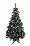 Ялинка штучна Різдвяна з шишкою і калиною червона 2,2 м Мостиська