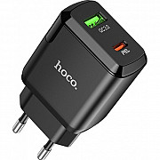 Мережевий зарядний пристрій Hoco N5 Favor Dual Port PD20W + QC3.0 Charger Black (Код товару: 17638) Харків