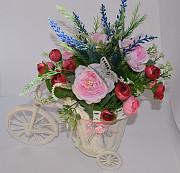 """Цветочная композиция """"Цветочный велосипед"""" Запоріжжя"""
