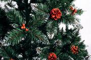 Ялинка штучна Різдвяна з шишкою і калиною червона 1,8м Мостиська